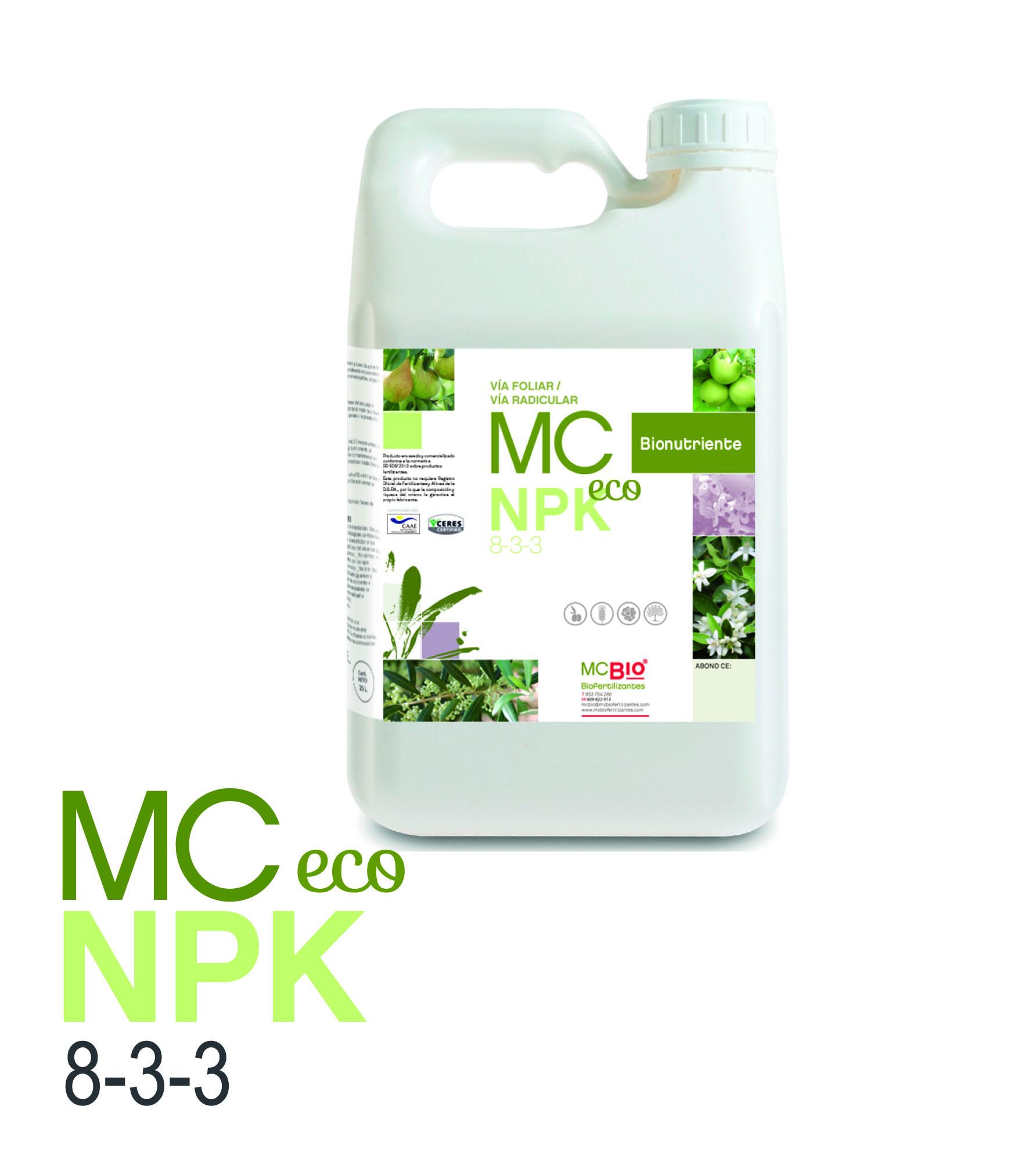 NPK ECO 8-3-3 Oleokelsa